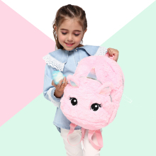 Girls Plush Unicorn Backpack Teenage Cute School Bags Women Small Travel Shoulder bags