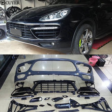 GTS Turbo style PP front bumper Car body kit for Porsche Cayenne GTS turbo 11-14 welly porsche cayenne turbo