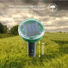 Solar Power Ultrasonic Sonic Mouse Mole Snake Bird Mosquito Pest Rodent Repeller Repellent Yard