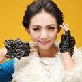 Новый женский осень зима леди модели сексуальная Мода Синтетический Лук узел вождения автомобиля полюс танцы перчатки Рукавицы