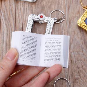 Image 5 - Mini ark alcorão livro de papel real pode ler árabe o alcorão chaveiro muçulmano jóias
