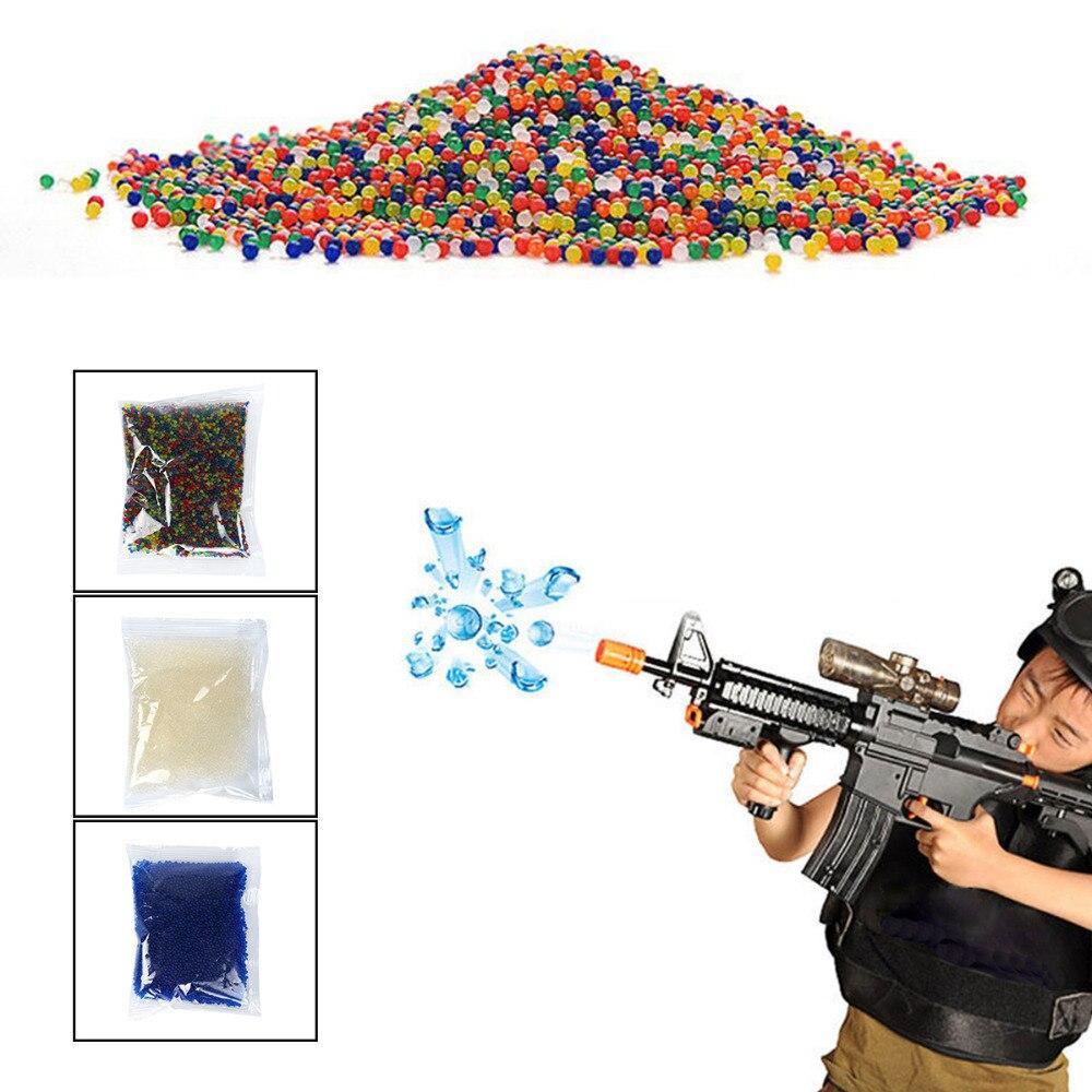 10000 Uds. De colores de cristal suave pistola de Paintball de agua cuentas que crecen en el agua bolas de crecimiento pistola de agua Juguetes 50/100 Uds. Pistola de aire suave ligera, balas, dardos de bala Eva para NERF n-strike Series, disparadores, Chico, pistola de juguete
