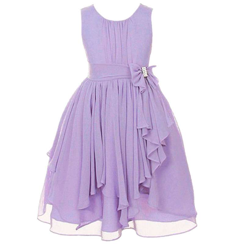 fashion vestido summer wedding dresses casual 13 colors kids cocktail dress asymmetrical girls chiffon dresses for 12 year olds in dresses from mother
