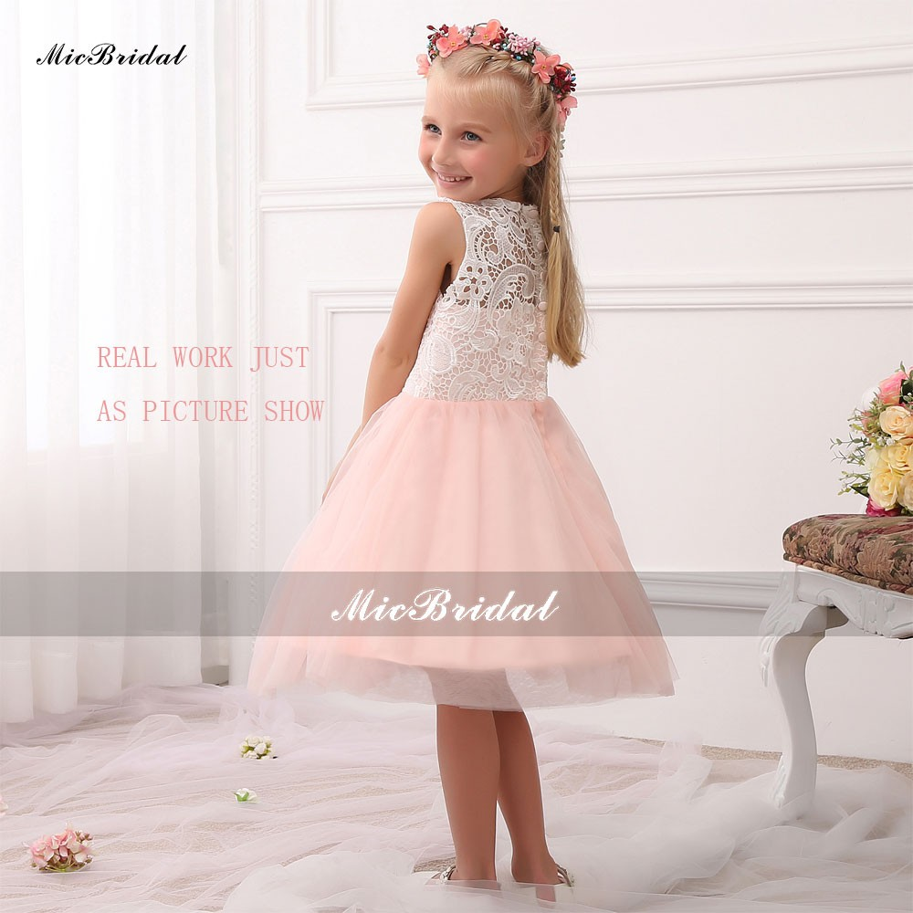 Rosa Coral Mint Peach Tulle Vestidos de Niña Para Bodas 2015 Modelos ...