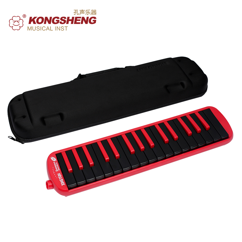 KONGSHENG <font><b>32</b></font> <font><b>Key</b></font> <font><b>Melodica</b></font> Instrument Red Blue Musical Instruments Professional Keyboard Gift Kids Beginner Pianica with Case image