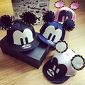 2015 cartoon cute Mickey baseball cap big ear Mouse Snapback Hats brand Hip-hop cap Bone aba reta gorra Women Chapeau