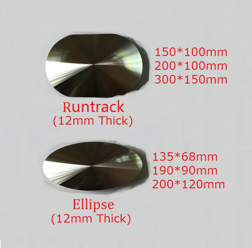 12mm Thick Solid Aluminum Circle Disc Glass Top Adapter Coffee Tea Table Bar Glass Top Abnor