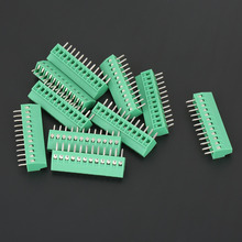 цена на 10pcs 12 Pin Terminal Block Connector Universal 2.54mm Pitch PCB  Screw Terminal Block Connector Green