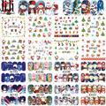 48 unids/set Mezclada Belleza Nail Art Stickers Decals Decoración Tatuajes Temporales de Santa de Navidad DIY Tips Nail Herramientas A1129-1176