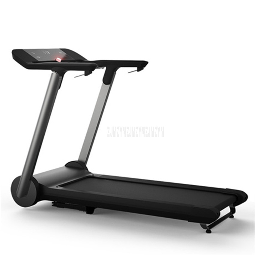 X3 1000 Вт многофункциональная домашняя Складная мини беговая дорожка ультра-бесшумный светодиодный цифровой дисплей оборудование для занятий фитнесом - Цвет: Черный