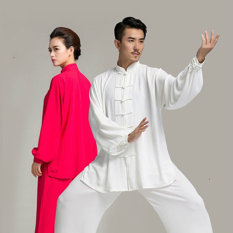 new men's and women's Taijiquan clothing  tai chi long sleeve uniforms Kung Fu performance clothing Wushu Clothing martial art tai chi clothing cotton clothes and costumes multicolor optional morning suit of taijiquan for men and women section
