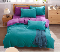 New Style Solid Colors And Zebra Pattern Design 4 Pcs Bedding Sets Bed Sheet Bedspread Duvet