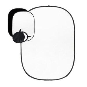 Image 4 - 2x1.5m czarno białe tło dwustronne Studio składane muślinowe tło akcesoria do studia fotograficznego