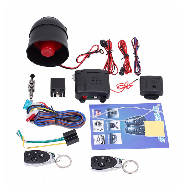 Universal Car Alarm Vehicle System Remote Alarm Autom Anti-theft Protection Security Keyless Entry Siren 2Remote Control Burglar image