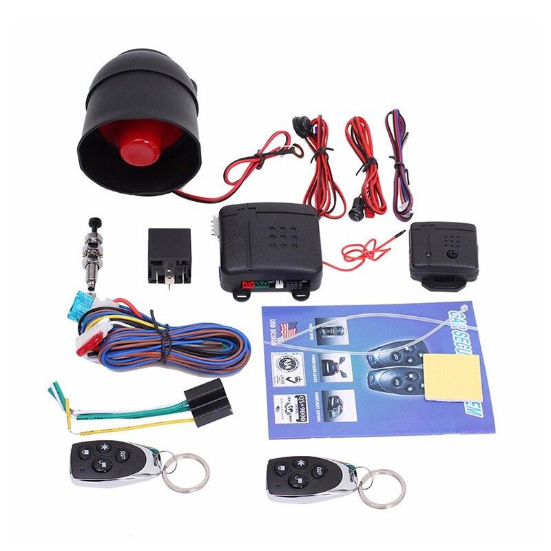 Universal Car Alarm Vehicle System Remote Alarm Autom Anti-theft Protection Security Keyless Entry Siren 2Remote Control Burglar