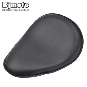 Motorcycle Davidson Motorbike Black Leather Solo Slim Seat Mount For Harley Sportster Bobber Chopper Custom