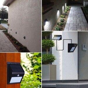 Image 5 - LED Güneş Gece Lambası Açık PIR Hareket Sensörü Güneş Enerjisi LED duvar lambası Için Ayrılabilir Yard Bahçe Kapı Yolu güvenlik aydınlatması