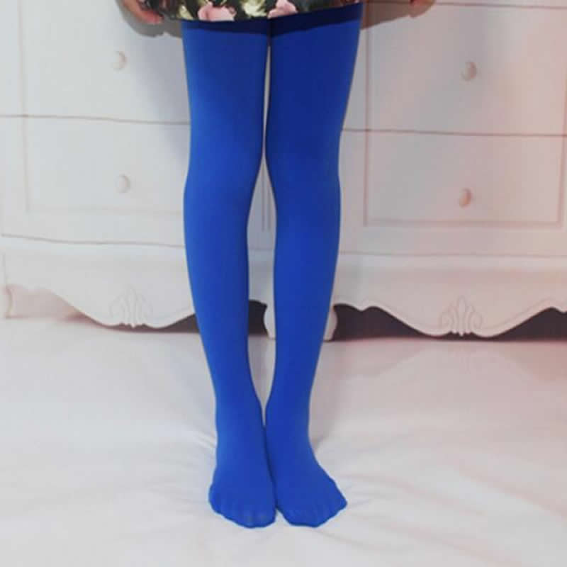 Girls Leggings Spring / Summer White Velvet Children Pantyhose High Elastic Girls Dance Leggings Students Dance Pantyhose