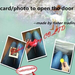 Viver room escape prop, sai da câmara jogo prop, cartão para abrir a porta, foto ou objetos para abrir o fechamento do EM, sala de fuga