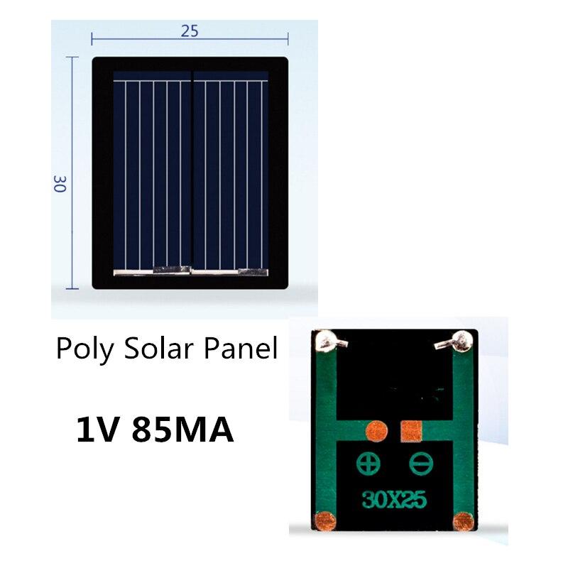 مصغرة الكريستالات لوحة شمسية من السيليكون 1V 85MA/80MA الشمسية نظام DIY ل شواحن بطاريات