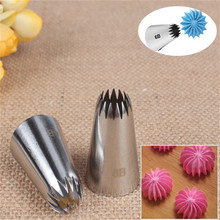 6B# Nozzle Cake Decorating Tips Stainless Steel Writing Tube Icing Baking & Pastry Tools