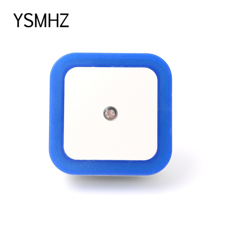 YSMHZ LED Nightlight Plug Socket Automatic Energy Saving Sensor Control LED Wall Night Light Indoor Bedroom Decoration Lamp