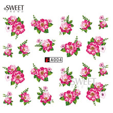 1 Sheet Blooming Flower Nail Art Water Transfer Stickers New Design Nail Art Tips Decoration Manicure Decals LAA004