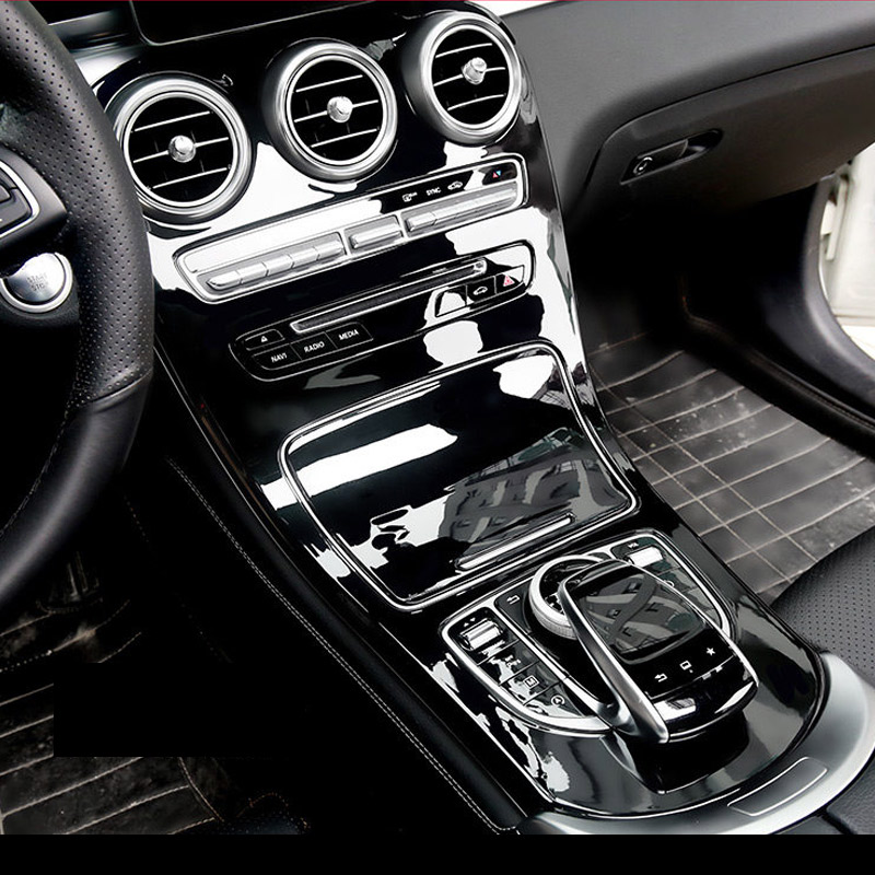 Gloss Black ABS Plastic car accessories For Mercedes Benz C GLC Class W205 C180L C200L C300 GLC260 2015 2016 2017