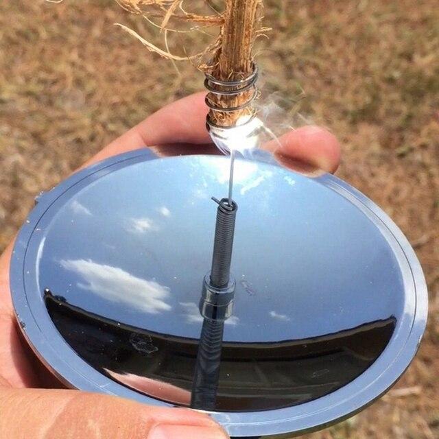 Solar al aire libre encendedor Camping senderismo por la supervivencia arrancador de fuego impermeable y a prueba de viento sobrevivir al aire libre de emergencia herramientas, equipos