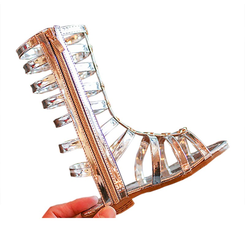 444deb4544 Aliexpress.com : Buy Summer Baby Girl Sandals High Baby Girl Boots Rome  Style Zipper PU Fashion Kids Boots Girls Shoes Prewalker from Reliable Boots  ...