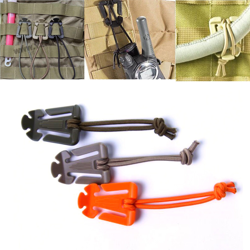 10 Pcs/lot ITW Webdom Web Dominator Molle Backpack Carabiner  EDC Tool  Elastic Rope Webbing Buckle Winder