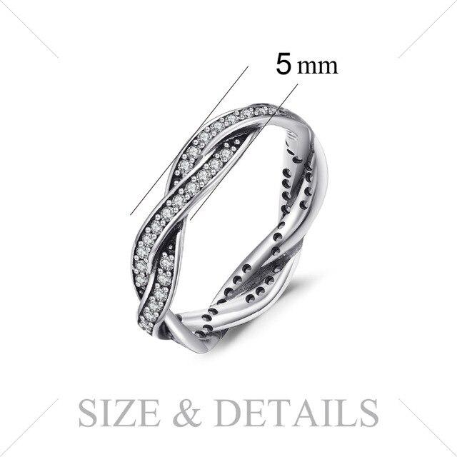 Jewelrypalace 925 Anelli In Argento Sterling Cubic Zirconia Infinity Fascia di Cerimonia Nuziale Nuziale Dei Monili di Nuovo Arrivo Regali per Lei Moda