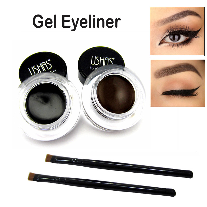 unids tatuaje de ojos profesional fcil de usar pigmentos de maquillaje duradero impermeable negro brown eyeliner gel con el c