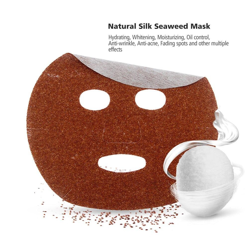 10 UNIDS Algas Algas Naturales de Seda Máscara Facial Hidratante Anti-Envejecimi
