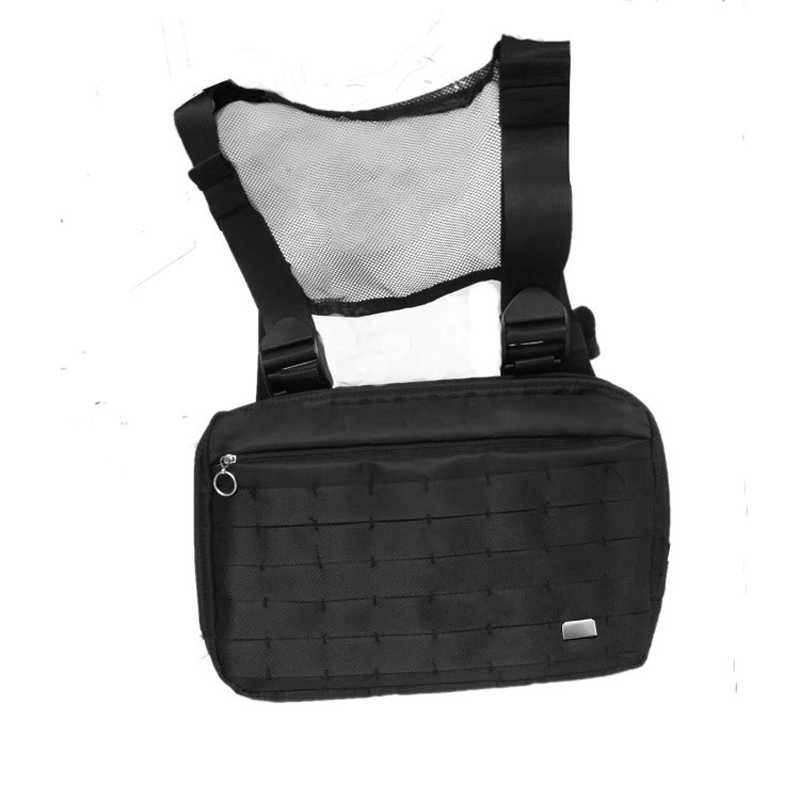 ac12cb8350ad8 Hot Hip Hop Chest Bag for Men Chest Rig Functional Package Nylon Tactical  Streetwear Bags Kanye Waist Packs