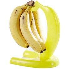 Yellow Banana Shape Displaying Banana Hanger Rack Fruit Fresh Keeping Living Room Storage Bananas Hook Holder