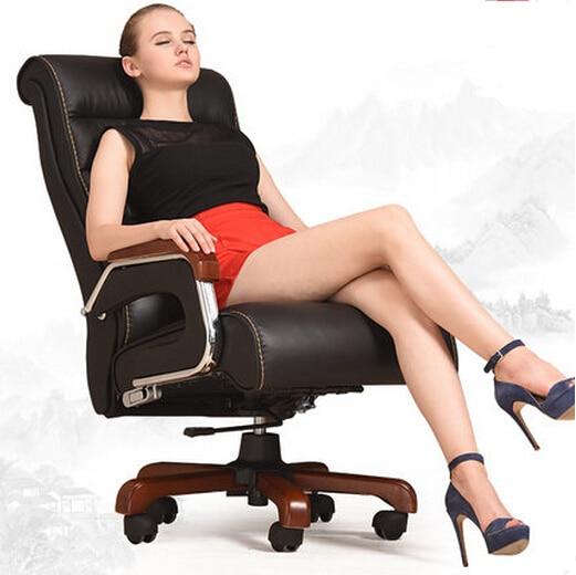 High-grade Leather Massage Chair Can Recline Lift Home Computer Chair Swivel Office Chair Massage Chair Boss