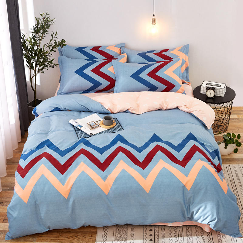 Wave stripes duvet cover flat sheet/fitted sheet pillowcase 4PCS adult Bedding sets Wave stripes duvet cover flat sheet/fitted sheet pillowcase 4PCS adult Bedding sets
