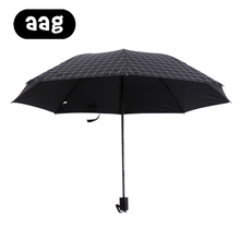 AAG Grid Umbrella Rain Women Men 3 Folding Light and Durable 360g 8K Strong Umbrellas Kids Rainy Sunny Wholesale Price Sun Block