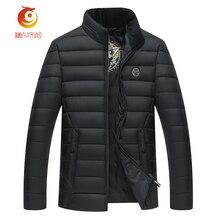 New Men Winter Parka Coat Solid Color Stand Collar Coats Printing Casual Cotton  Mens Tops Keep Warm Men Parka Jacket Size 4XL