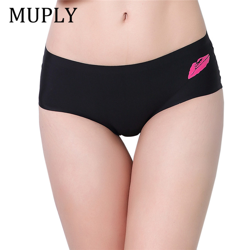7774fd21f79d MUPLY Hot Sale Seamless Briefs Everyday Underwear Women Panties Traceless  Raw-cut Sexy Lingerie Hipster Pink Briefs Intimate