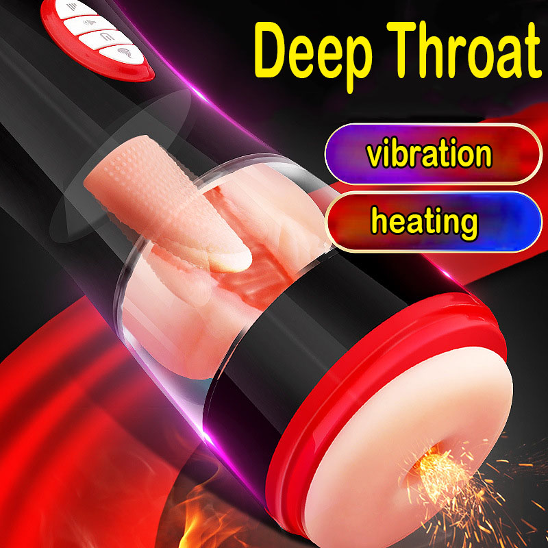 Intelligent Vibrator Sex Toys For Men Heating Deep Throat Male Masturbator Pocket Pussy Artificial Vagina Tongue Licking For ManIntelligent Vibrator Sex Toys For Men Heating Deep Throat Male Masturbator Pocket Pussy Artificial Vagina Tongue Licking For Man