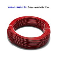 2 Pin 22AWG Electric Wire 600m Tinned Copper Wire SM JST Connector Extension Cable For LED Strip light Module Controller