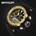 Sanda marca de moda led digital reloj deportivo militar relojes g estilo impermeable s-shock hombres reloj electrónico relogio masculino