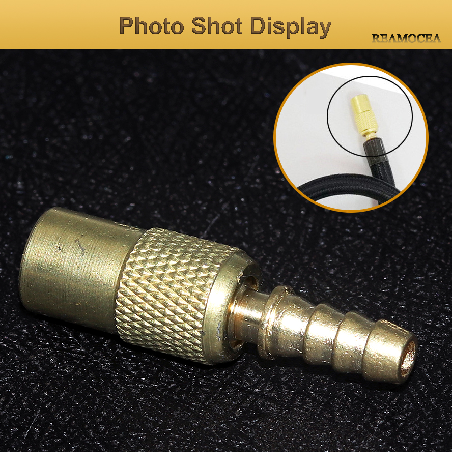 Reamocea 1Pc 6mm Zinc Alloy Tyre Wheel Tire Air Chuck Inflator Pump Valve Clip Clamp Connector Adapter Universal For Auto Cars (10)