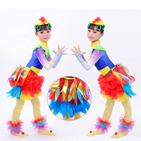 Modern dance costume for girls dance stage costumes for singers dancewear Animal stage chick dance costume for kids children