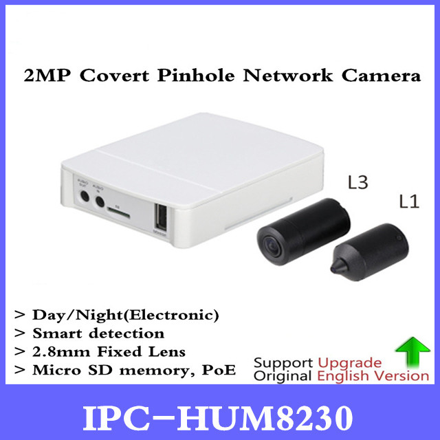DH Original English version IPC-HUM8230 2MP Covert Pinhole Network Camera IP Camera Main device Sensor Unit L1 L3 optional dahua 2mp covert supper mini ip camera ipc hum8230 h 265 poe with unit l1 and l3 micro sd memory without dahua logo