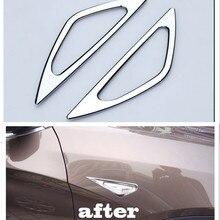 ABS хром поворотник боковой световой индикатор Крышка лампы Накладка наклейка для BMW X3 F25 2011 2012 2013 2 шт Автомобильный Стайлинг