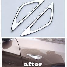 Chrome Turn signal Side Marker Light lamp Cover trim for BMW X3 2011-2013 f25 chrome body side moulding trim cover overlay for bmw x3 f25 2011 2012 2013 styling mouldings body decorative