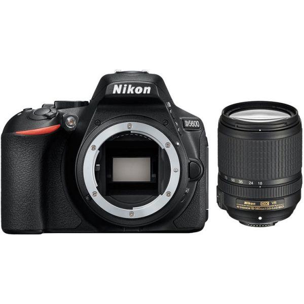 Nikon D5600 DSLR Camera Body with AFS 18-140mm Lens Kit (Bla